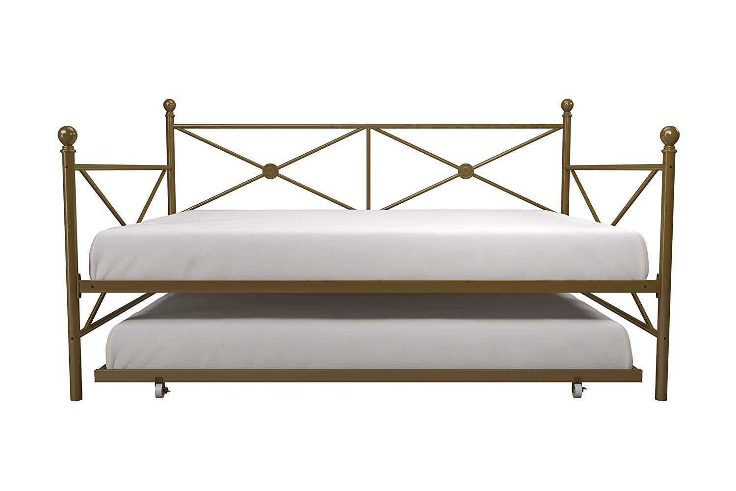 Full And Twin Size Metal Daybed W Trundle Frame Set