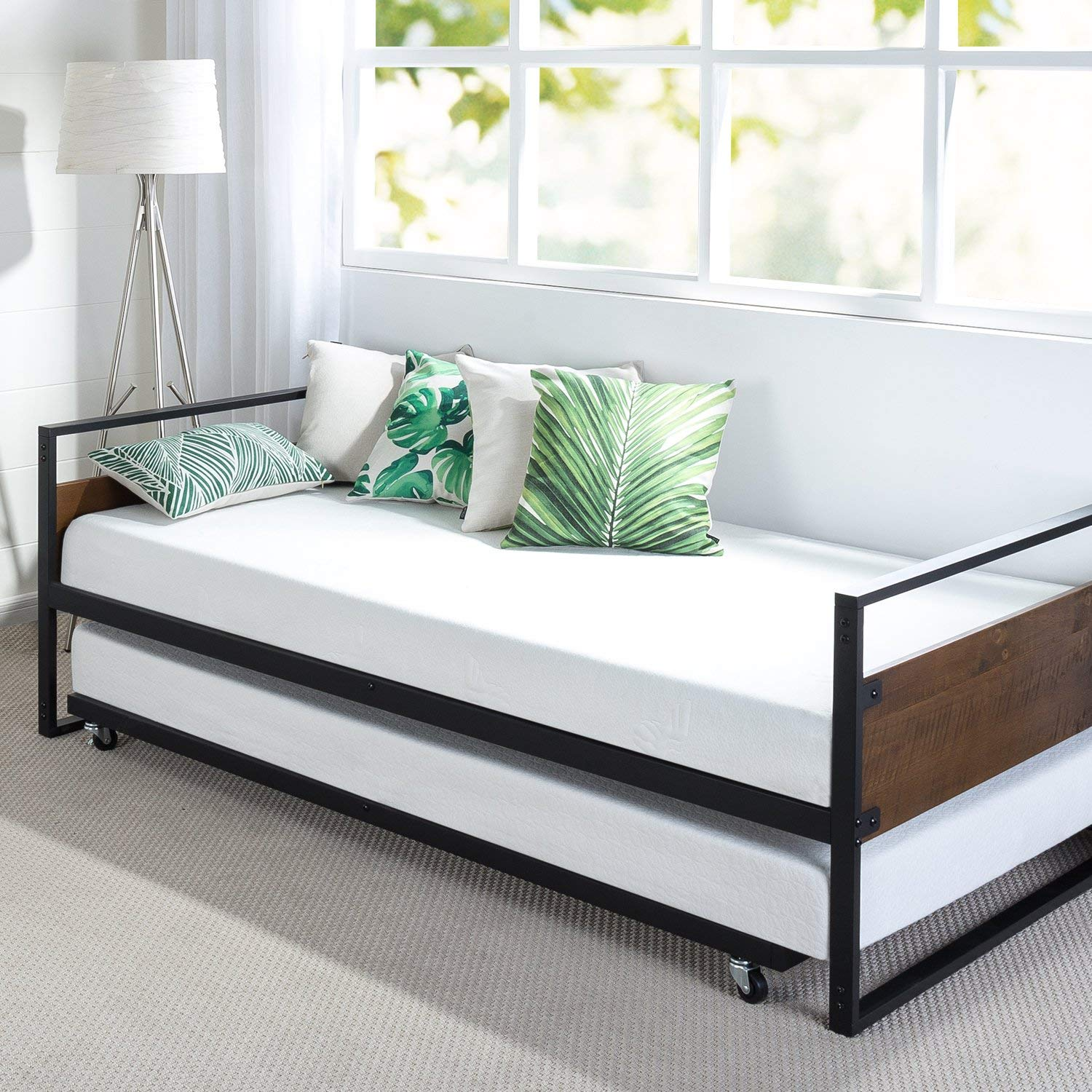 Steel Twin Trundle Bed Frame By Zinus